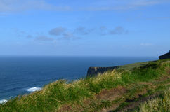 The Burren Pathway Along the Cliff`s of Moher Stock Image