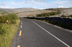 Burren road landscape, Ireland Stock Photos