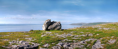 Burren rock. Stone on the Burren coastline - Ireland Royalty Free Stock Photos