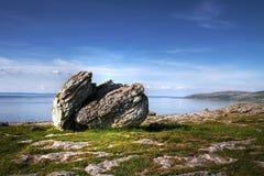 Burren rock. Stone on the Burren coastline - Ireland Stock Photos