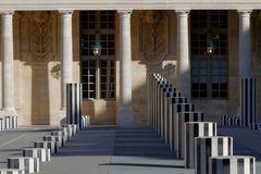 Burrens columns in Palais Royal Stock Image