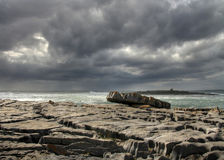 Burren stone. Coasline in Doolin - west Ireland Stock Image