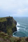 Burren Way on the Cliff`s Of Moher Stock Photo