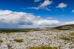 Burrenlandschap, Provincie Clare, Ierland Royalty-vrije Stock Afbeelding
