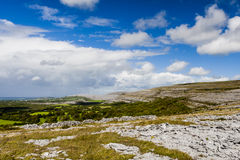 Burrenlandschap, Provincie Clare, Ierland Royalty-vrije Stock Fotografie