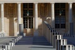 Burrens kolonner i Palais Royal Fotografering för Bildbyråer