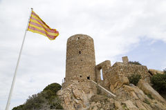 Burriac Castle, Barcelona, Spain Stock Image