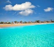 Burriana beach in Castellon of Spain. Burriana beach in Castellon of Mediterranean Spain royalty free stock images