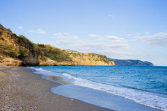 Burriana Beach in Nerja Royalty Free Stock Image