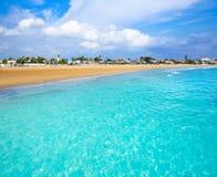 Burriana plaża w Castellon Hiszpania obraz royalty free