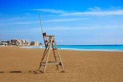 Burriana strand i Castellon av Spanien royaltyfria foton