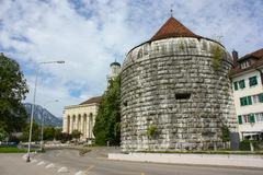 Burristurm - Solothurn, Switzerland. Burristurm - tower that is part of the wall in Solothurn, Switzerland Stock Photos