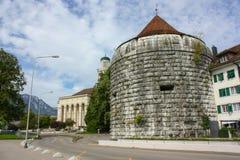 Burristurm - Solothurn, Switzerland. Burristurm - tower that is part of the wall in Solothurn, Switzerland stock photos