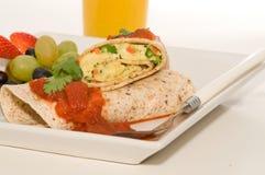 burrito завтрака стоковое изображение