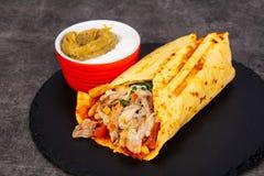 Burrito avec de la viande images libres de droits