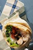 Burrito boven meningsclose-up Royalty-vrije Stock Foto's