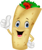 Burrito cartoon character giving thumbs up Stock Photography