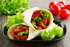 Burrito con carne di maiale Fotografia Stock Libera da Diritti