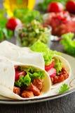 Burrito con cerdo Imagen de archivo libre de regalías