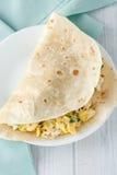 Burrito d'oeufs de petit déjeuner Images stock