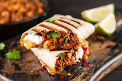 Burrito de boeuf mexicain images libres de droits