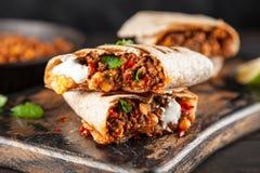 Burrito de boeuf mexicain image libre de droits