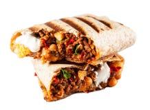 Burrito de boeuf mexicain photographie stock libre de droits