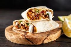 Burrito de boeuf mexicain photo libre de droits