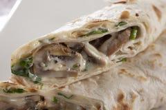 Burrito de la crepe Fotos de archivo