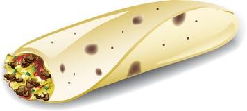 Burrito de petit déjeuner Images stock