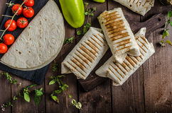 Burrito de petit déjeuner Image libre de droits