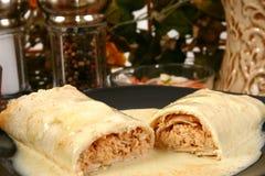 Burrito de poulet photographie stock libre de droits