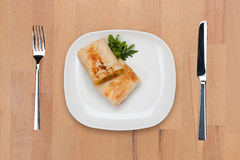 burrito dekorerad parsley royaltyfri fotografi