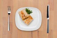 burrito dekorująca pietruszka Fotografia Royalty Free