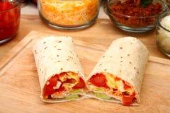 Burrito della prima colazione fotografie stock libere da diritti