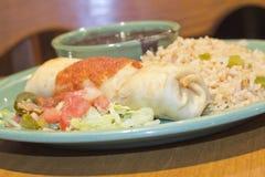 Burrito di Chimichanga Fotografia Stock Libera da Diritti