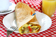 Burrito do pequeno almoço Fotografia de Stock Royalty Free