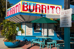Burrito eccellente di EL a Pasadena Fotografia Stock