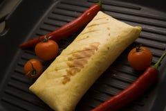 Burrito on grill Stock Photo