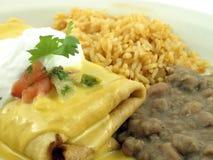 Burrito met bonen royalty-vrije stock foto's
