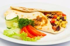 Burrito met bonen en pompoen Royalty-vrije Stock Foto