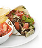 Burrito met Rundvlees en Groenten Royalty-vrije Stock Afbeelding