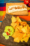 Burrito mexican food Stock Photo