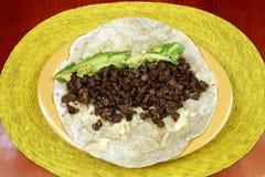 Burrito mexicano fotos de archivo