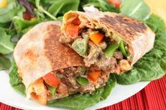 Burrito mexicano do bife imagem de stock