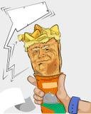 Burrito mit bemannt Gesicht Lizenzfreies Stockbild