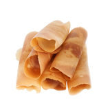 Burrito pancake asia style, Clipping path Royalty Free Stock Photos