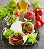 Burrito with pork Stock Images