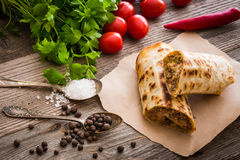 Burrito with vegetables Stock Photography