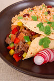 Burrito wrap sandwich Stock Photo